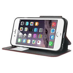 Peněženkové pouzdro s okýnkem na iPhone 6 a 6s - červené - 4