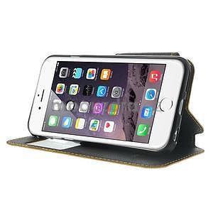 Peněženkové pouzdro s okýnkem na iPhone 6 a 6s - žluté - 4