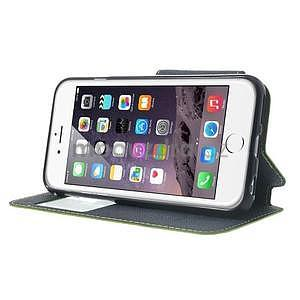 Peněženkové pouzdro s okýnkem na iPhone 6 a 6s - zelené - 4