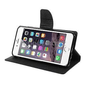 Peněženkové pouzdro pro iPhone 6 Plus a 6s Plus - černé - 4
