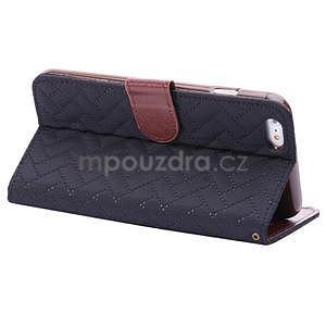 Elegantní peněženkové pouzdra pro iPhone 6 Plus a 6s Plus - černomodré - 4