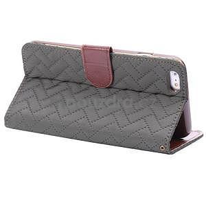 Elegantní peněženkové pouzdra pro iPhone 6 Plus a 6s Plus - šedé - 4