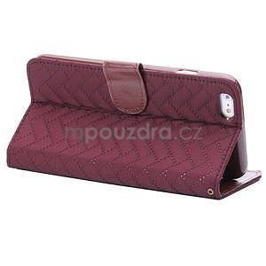 Elegantní peněženkové pouzdra pro iPhone 6 Plus a 6s Plus - vínové - 4