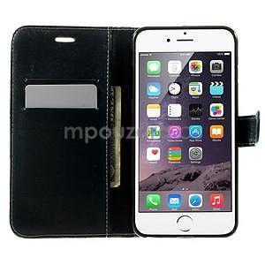 Kárované peněženkové pouzdro na iPhone 6 Plus a 6s Plus - černobílé - 4