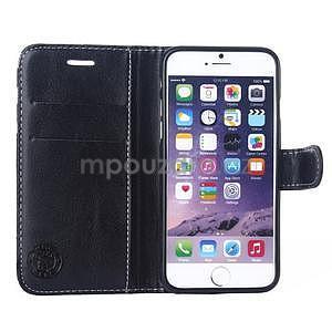 Peněženkové pouzdro Fancy na iPhone 6 Plus a 6s Plus - černobílé - 4