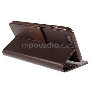 Peněženkové pouzdro pro iPhone 6 Plus a 6s Plus - hnědé - 4