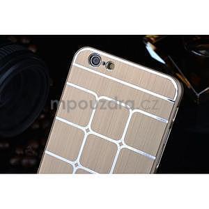 Stylový kryt s kovovými zády pro iPhone 6 Plus a 6s Plus - champagne - 4