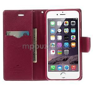 Peněženkové pouzdro pro iPhone 6 Plus a 6s Plus - růžové - 4