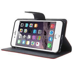 Peněženkové pouzdro pro iPhone 6 Plus a 6s Plus - červené - 4