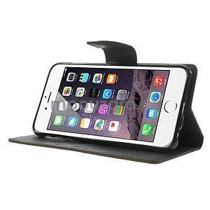 Peněženkové pouzdro pro iPhone 6 Plus a 6s Plus - hnědé/černé - 4