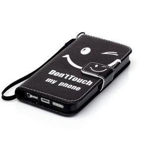 Peněženkové pouzdro na mobil iPhone SE / 5s / 5 - nedotýkat se - 4