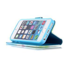 Peněženkové pouzdro na mobil iPhone SE / 5s / 5 - pampelišky - 4