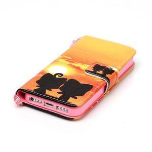 Peněženkové pouzdro na mobil iPhone SE / 5s / 5 - zapadající slunce - 4