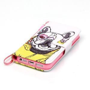 Peněženkové pouzdro na mobil iPhone SE / 5s / 5 - buldog - 4