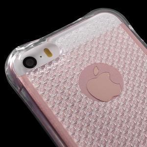 Diamonds gelový obal se silným obvodem na iPhone SE / 5s / 5 - transparentní - 4