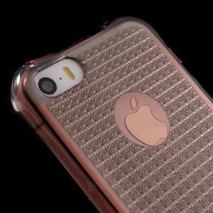 Diamonds gelový obal se silným obvodem na iPhone SE / 5s / 5 - šedý - 4