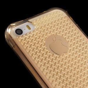 Diamonds gelový obal se silným obvodem na iPhone SE / 5s / 5 - zlatý - 4