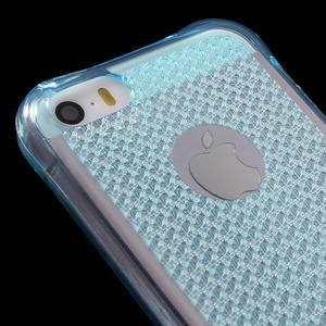 Diamonds gelový obal se silným obvodem na iPhone SE / 5s / 5 - modrý - 4