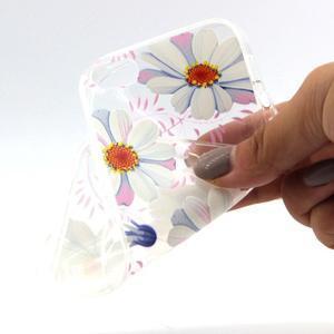 Transparentní gelový obal na mobil iPhone SE / 5s / 5 - květinky - 4