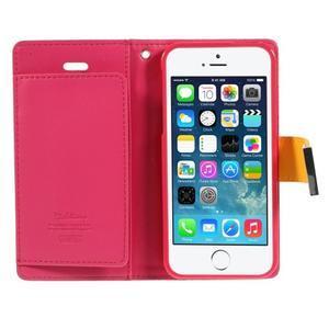 Rich diary PU kožené pouzdro na iPhone SE / 5s / 5 - žluté - 4