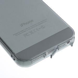 Gelový transparentní obal na iPhone SE / 5s / 5 - šedý - 4