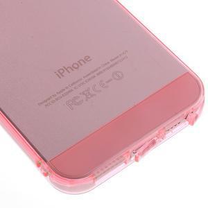 Gelový transparentní obal na iPhone SE / 5s / 5 - růžový - 4