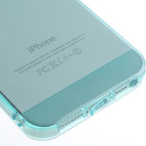 Gelový transparentní obal na iPhone SE / 5s / 5 - cyan - 4