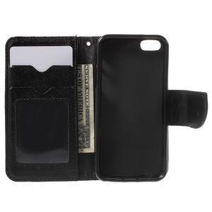 Cross PU kožené pouzdro na iPhone SE / 5s / 5 - černé - 4