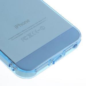 Gelový transparentní obal na iPhone SE / 5s / 5 - modrý - 4
