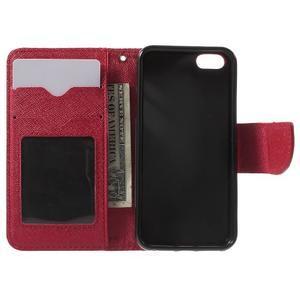 Cross PU kožené pouzdro na iPhone SE / 5s / 5 - červené - 4