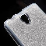 Povrchově třpytivý gelový obal na mobil Lenovo A2010 - stříbrný - 4/7