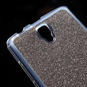 Povrchově třpytivý gelový obal na mobil Lenovo A2010 - šedý - 4