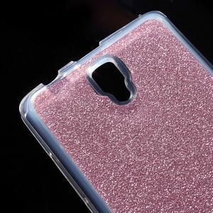 Povrchově třpytivý gelový obal na mobil Lenovo A2010 - rose - 4