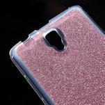 Povrchově třpytivý gelový obal na mobil Lenovo A2010 - rose - 4/5