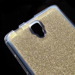 Povrchově třpytivý gelový obal na mobil Lenovo A2010 - zlatý - 4