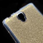 Povrchově třpytivý gelový obal na mobil Lenovo A2010 - zlatý - 4/5