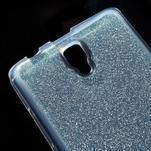 Povrchově třpytivý gelový obal na mobil Lenovo A2010 - světlemodrý - 4/5
