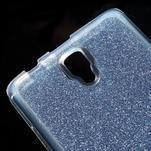 Povrchově třpytivý gelový obal na mobil Lenovo A2010 - tmavěmodrý - 4/5