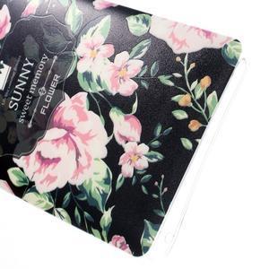 Květinový gelový obal na mobil Lenovo A7000 / K3 Note - černé pozadí - 4