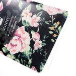 Květinový gelový obal na mobil Lenovo A7000 / K3 Note - černé pozadí - 4/5