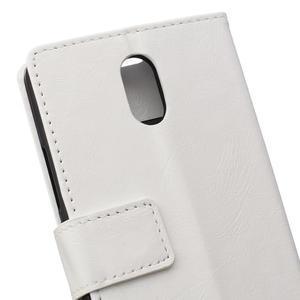 GX koženkové peněženkové na mobil Lenovo Vibe P1m - bílé - 4