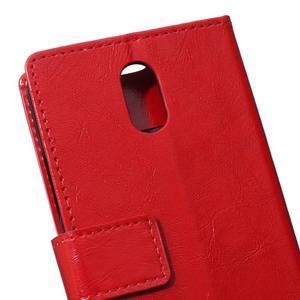 GX koženkové peněženkové na mobil Lenovo Vibe P1m - červené - 4
