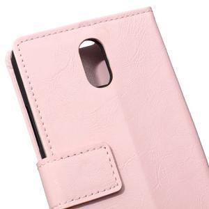 GX koženkové peněženkové na mobil Lenovo Vibe P1m - růžové - 4