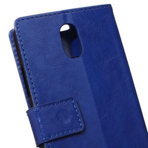 GX koženkové peněženkové na mobil Lenovo Vibe P1m - modré - 4