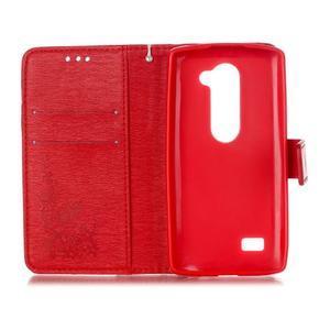 Magicfly pouzdro na mobil LG Leon - červené - 4