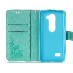 Magicfly pouzdro na mobil LG Leon - cyan - 4