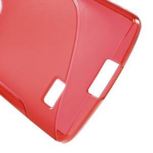 S-line gelový obal na mobil LG Leon - červený - 4