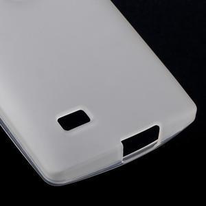 Matný gelový obal na mobil LG Leon - bílý - 4