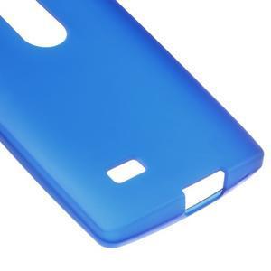 Matný gelový obal na mobil LG Leon - modrý - 4