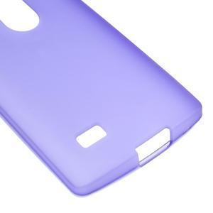 Matný gelový obal na mobil LG Leon - fialový - 4